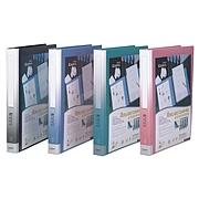 齐心 30孔活页资料册 (蓝) A4 40袋  NF407A-S-X