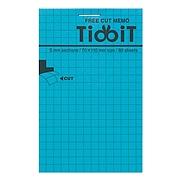 國譽 TidbiT自由撕取便條紙 (藍) A7/80頁  ME-F12B