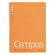 国誉 进口Campus双螺旋装订PP面点线笔记本 (橘色) B5/40页  SU-T115ATN