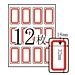 卓联 手写标签 (红框) 18*32mm 12张/包  ZL-17