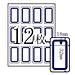 卓聯 手寫標簽 (藍框) 18*32mm 12張/包  ZL-18