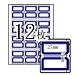 卓聯 手寫標簽 (藍框) 27*24mm 12張/包  ZL-21