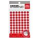 得力 手寫標簽 (紅) 直徑10mm*70枚/張 12張/包  6419