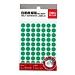 得力 手寫標簽 (綠) 直徑10mm*70枚/張 12張/包  6421
