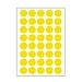 裕睿宝 手写标签 (黄) 直径16mm 40枚/张 10张/包  MCS002