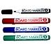 普乐士 白板笔4色袋装 (黑/红/蓝/绿) 4支/袋  MK-RKBG
