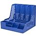 得力 四欄文件欄(自帶筆筒) (藍) A4  78981