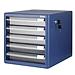 釗盛 帶鎖文件柜 (藍) 五層  ZS285
