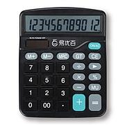 易優百 計算器 (黑) 12位 中型  EY837