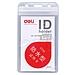 得力 防水型证件卡 (透明) 竖式 10个/包  5759