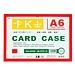 装得快 磁性硬质卡片袋 (混色) A6  JX-506