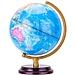 得力 木質底座地球儀 25cm  2176