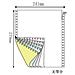 易优百 彩色电脑打印纸 无等分(5联) 带裂线1000页/箱  241-5