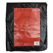 易优百 折叠平底式大型垃圾袋 (黑) 100*120cm(10只/包)