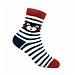 酷MA萌 儿童袜子 黑条纹