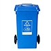 敏胤 加厚戶外分類可回收物標識垃圾桶(掛車帶輪) (藍色) 240L  MYL-7240
