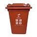 國產 環衛垃圾桶 (紅色) 30L 無輪  有害垃圾