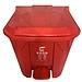 國產 腳踏式帶蓋垃圾桶 (紅色) 15L  有害垃圾