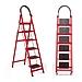 步步稳 步步高四步梯子 红色主体+黑色踏板