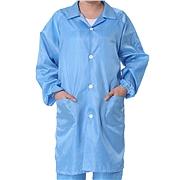 国产 防静电条纹大褂 (蓝) L