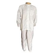 國產 防靜電分體服 (白) (衣服+褲子) XXXL