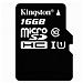 金士頓 UHS-I TF(MicroSD)高速存儲卡 16G(Class10)  讀速80MB/s