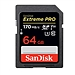 閃迪 SD存儲卡至尊超極速版 (黑色) 64GB  U3 C10 V30 4K