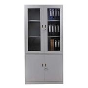 發力 玻璃文件柜 (灰白) 900*400*1850mm  FL-059