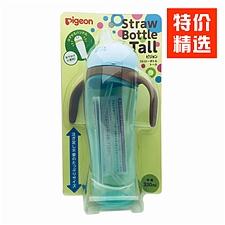 貝親 嬰兒童學飲防漏企鵝喝水杯藍色