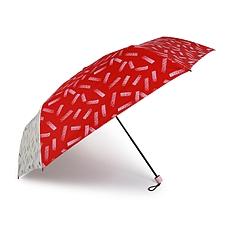 酷波德 德国三折折叠晴雨伞 撞色 遮阳超轻防晒防紫外线 (粉红白) UPF50+  KF3636