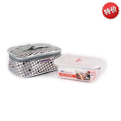 乐扣乐扣 耐热玻璃保鲜盒提袋组合  LLG 906FU