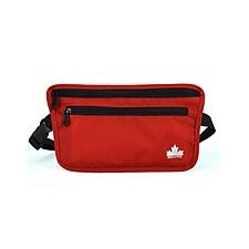 MASCOMMA 北美風情貼身腰包證件包護照包 (紅色) 240*5*135mm  BS01006/RED