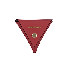 MASCOMMA 牛皮三角彩色零钱包 (赤丹红) 100*100*100mm  5C215/MAG