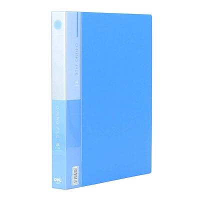 得力 2孔O型文件夹 (蓝) A4  5382