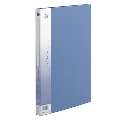 齐心 超坚固PP文件夹 (绯蓝) 单弹簧夹+插袋  AR151A-P-X