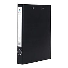 富得快 PVC半包胶文件夹 (黑) 长押夹+板夹  HY552