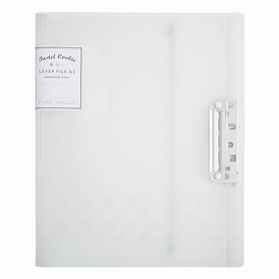 国誉 淡彩曲奇强力文件夹 (透明) A4(A3对折)  WSG-FUCW320T