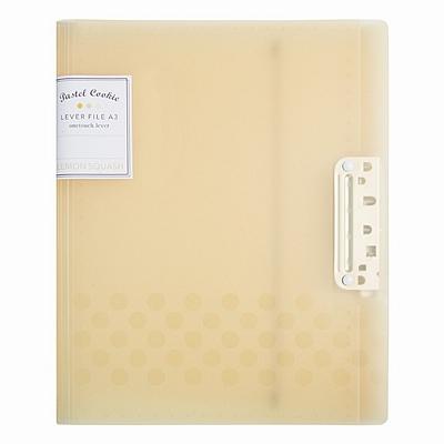 国誉 淡彩曲奇强力文件夹 (黄) A4(A3对折)  WSG-FUCW320Y