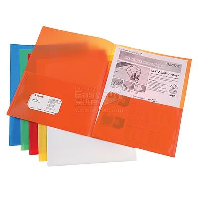 易达 亮彩单色双袋文件套 (混色) A4 5个/包  74090