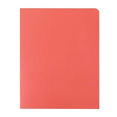 富得快 文件报告纸套 (红) A4  56201