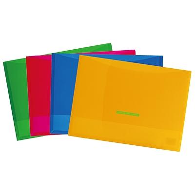 国誉 COLOR TAG文件袋 (混色) A4  WCN-TCF6110