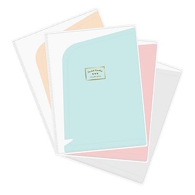 国誉 淡彩曲奇多页文件保护套 (混色) A4 6袋  WSG-HBC60MX