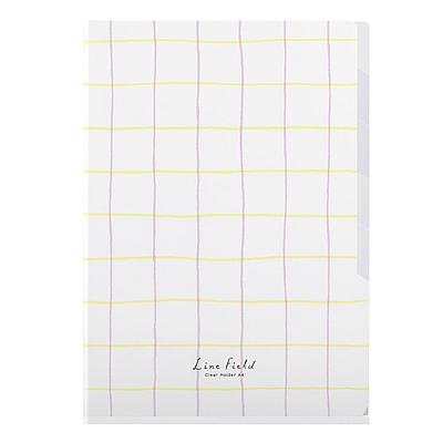 国誉 格子印象索引文件套 (粉红黄) A4 5袋  WSG-FUL750PY