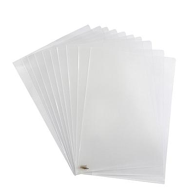 金得利 二页文件保护套 (透明) A4 10个/包  E310-22