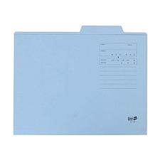易优百 纸制文件整理夹 (蓝) A4  EB-F40B