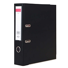 得力 半包胶档案夹 (黑) A4/3寸  5463