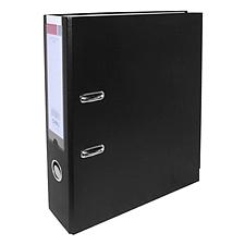 得力 PVC半包胶档案夹 (黑) A4 3寸  5481