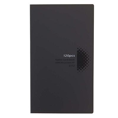 得力 名片册 (黑) 120枚  5772