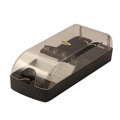 益而高 壳形名片盒 (黑) 650枚  808L