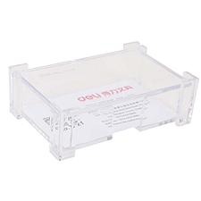 得力 名片盒 (透明)  7621